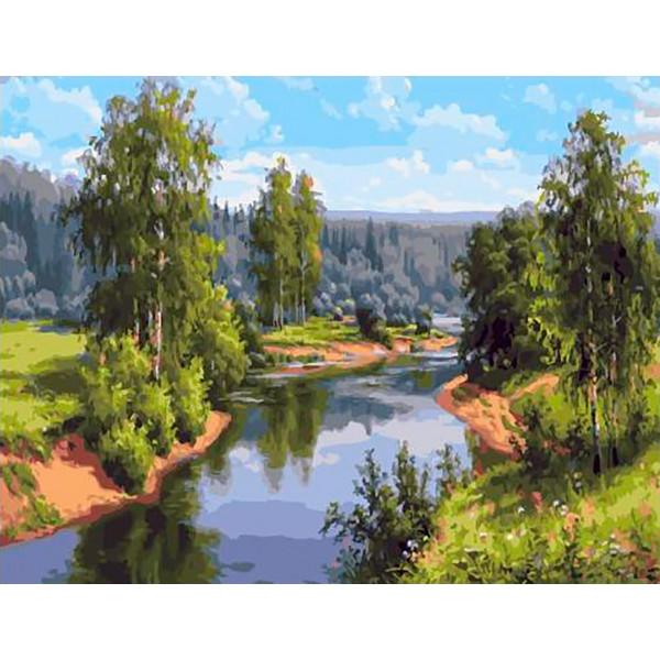 """Картина по номерам """"Быстрая река"""""""
