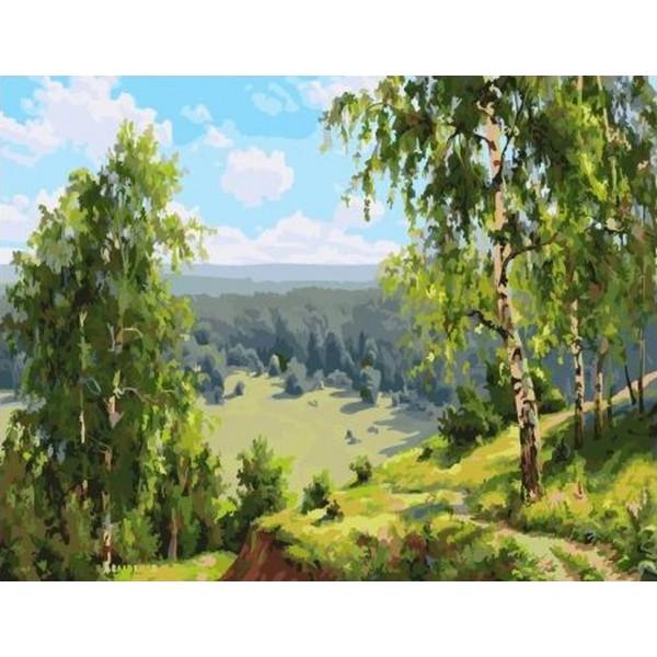 """Картина по номерам """"Березовая долина"""""""