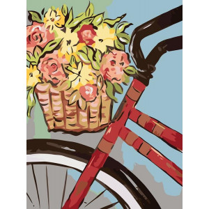 "Картина по номерам ""Велопрогулка с розами"""