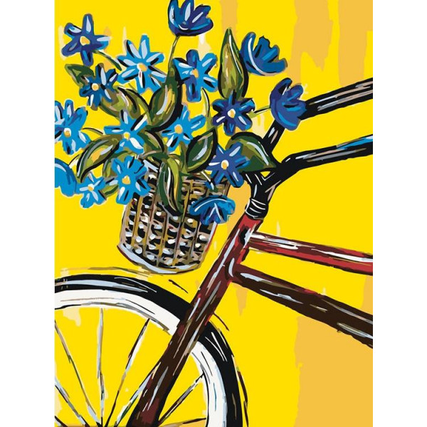 "Картина по номерам ""Велопрогулка с незабудками"""