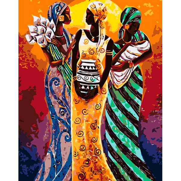 "Картина по номерам ""Африканские мотивы"""