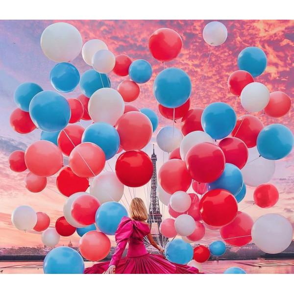 "Картина по номерам ""Девушка с шарами"""