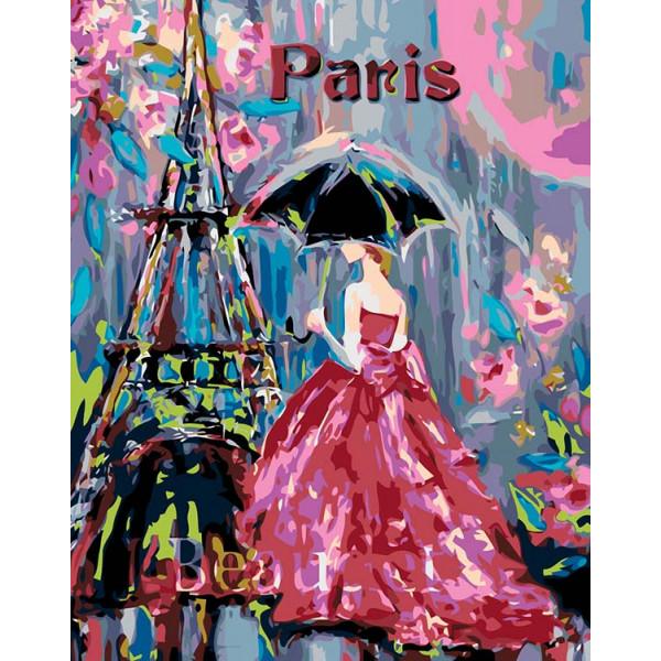 """Картина по номерам """"Гламур Парижа"""""""