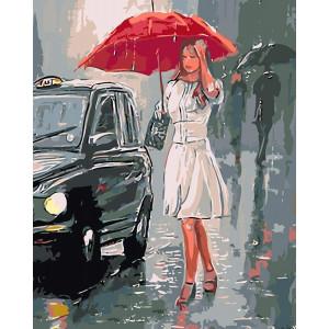 """Картина по номерам """"Под проливным дождем"""""""