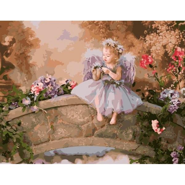 "Картина по номерам ""Ангел на мосту"""