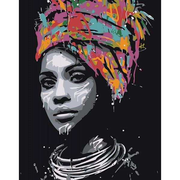 "Картина по номерам ""Африканская красавица"""