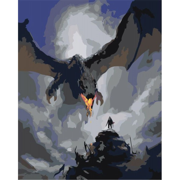 "Картина по номерам ""Дракон"""