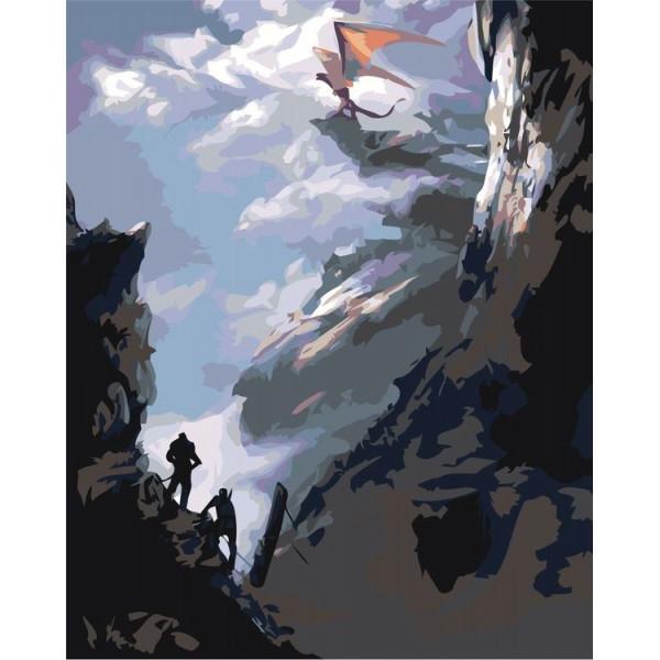 """Картина по номерам """"Дракон на скале"""""""
