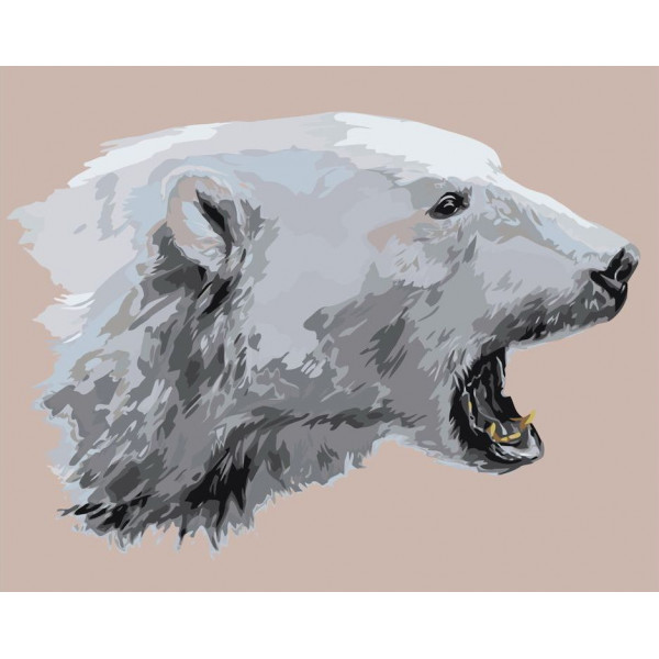 "Картина по номерам ""Белый медведь"""