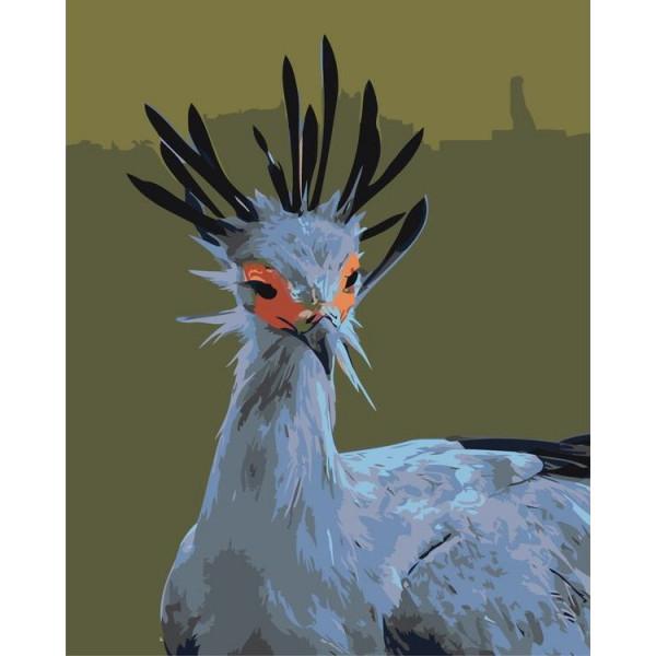 """Картина по номерам """"Диковинная птица"""""""