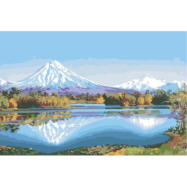 "Картина по номерам ""Горное озеро"""