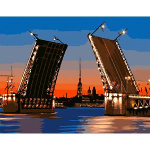 """Картина по номерам """"Развод мостов"""""""
