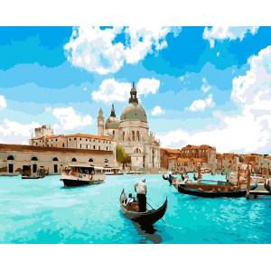 """Картина по номерам """"Собор Санта-Мария-делла-Салюте. Венеция"""""""