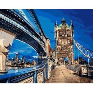 """Картина по номерам """"Тауэрский мост в Лондоне"""""""