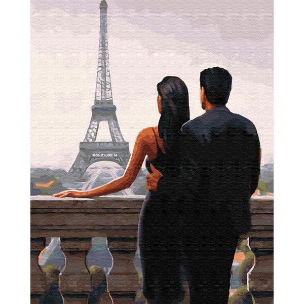 """Картина по номерам """"Двое влюбленных во Франции"""""""