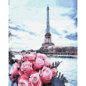 """Картина по номерам """"Цветы у Сены"""""""